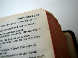 Bible Open to Proverbs