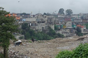 Shanty town next to the city dump in Guatemala City