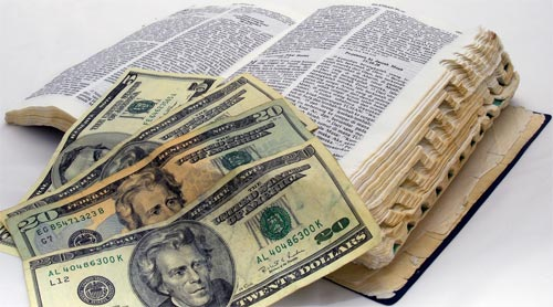 old bible money